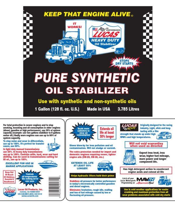 Pure Synthetic Oil Stabilizer- Sintētiskais eļļas stabilizators